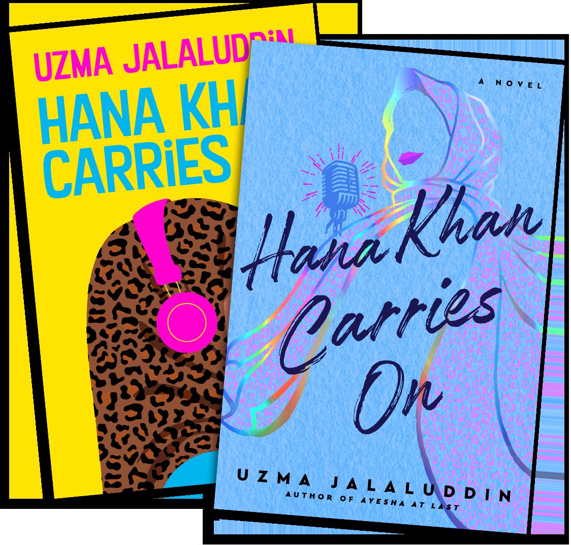 Hana Khan Carries On Book Covers